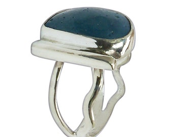 BLUESTONE LELAND BLUE Ring SterlingAjustable