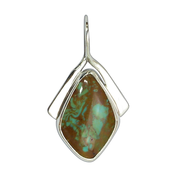 Kingman Turquoise and Sterling Silver Pendant  pturf3248