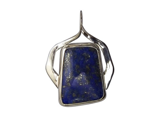 Lapis Lazul and Sterling Silver Pendant, plpsg3465