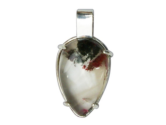 Lodolite Crystal and Sterling Silver Pendant, plodf3298