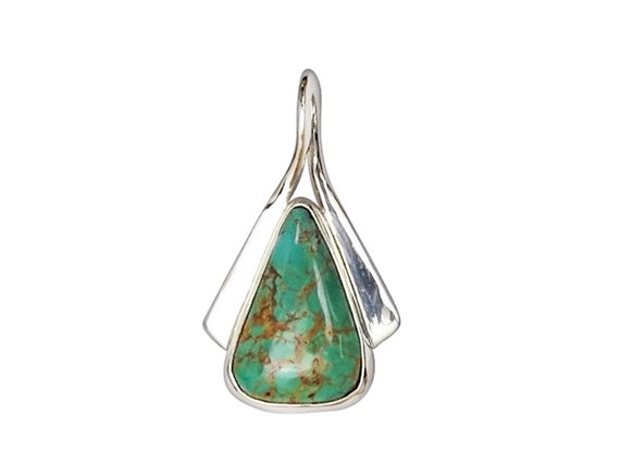 Kingman Turquoise and Sterling Silver Pendant  pturg3450