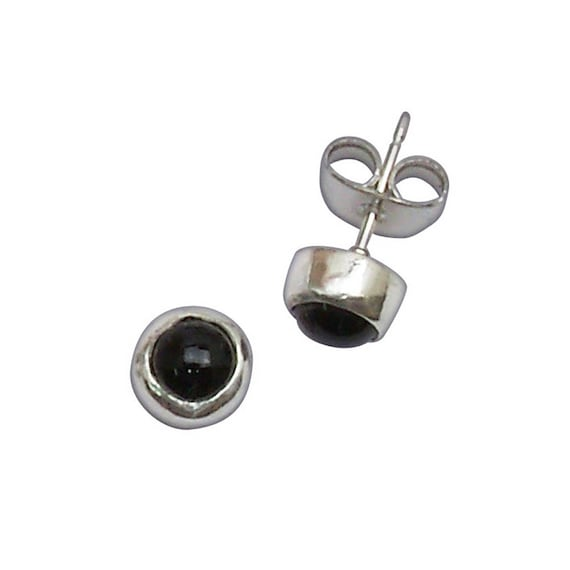 Black Onyx and Sterling Silver Post Earrings  eonxb2954