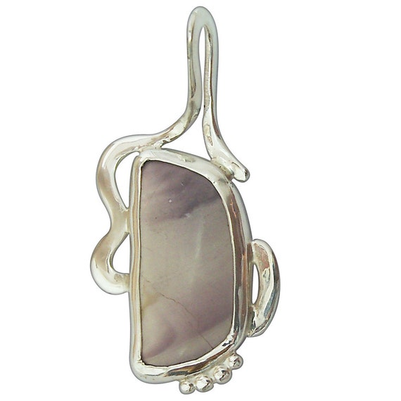 Pendants Porcelain Jasper Pendant set in Sterling Silver  pporf2345
