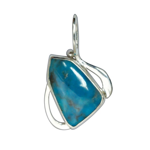 Kingman Turquoise and Sterling Silver Pendant  pturg3249