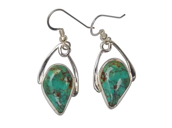 Kingman Turquoise and Sterling Silver Earrings  eturg3443