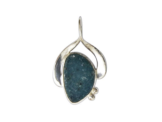 Druzy Agate and Sterling Silver Pendant  pdrze3230