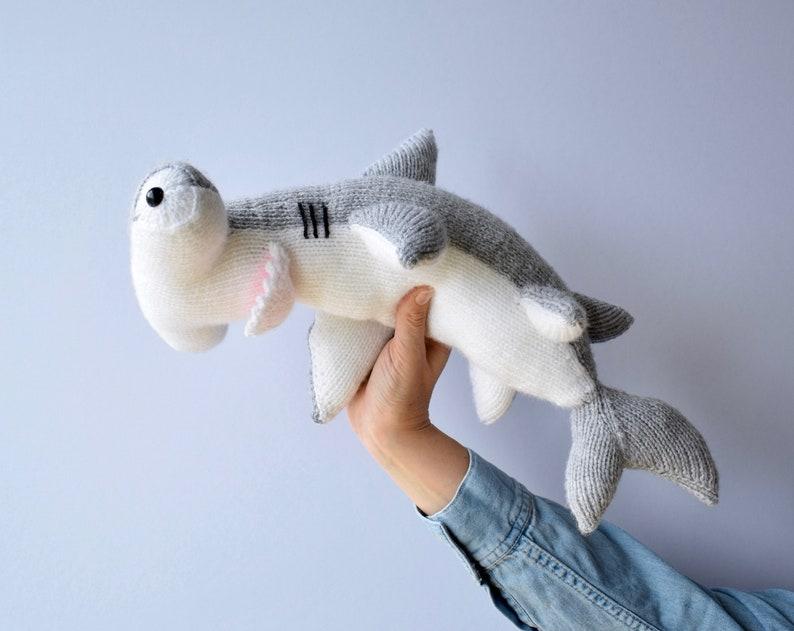 Hammerhead Shark toy knitting patterns | Etsy