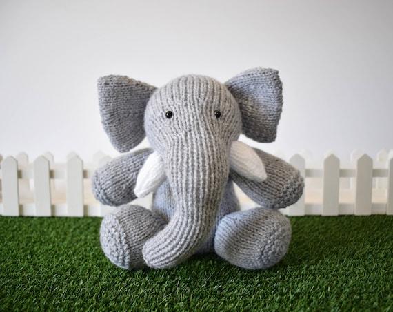 Bloomsbury Elephant Toy Knitting Patterns Etsy