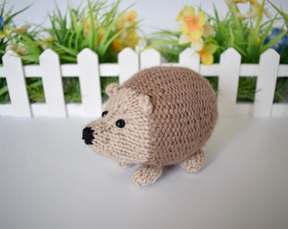 Kensington Hedgehog Toy Knitting Patterns From Fluffandfuzz On Etsy