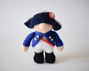 Napoleon doll knitting pattern