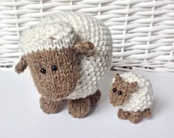 Moss the Sheep toy knitting patterns