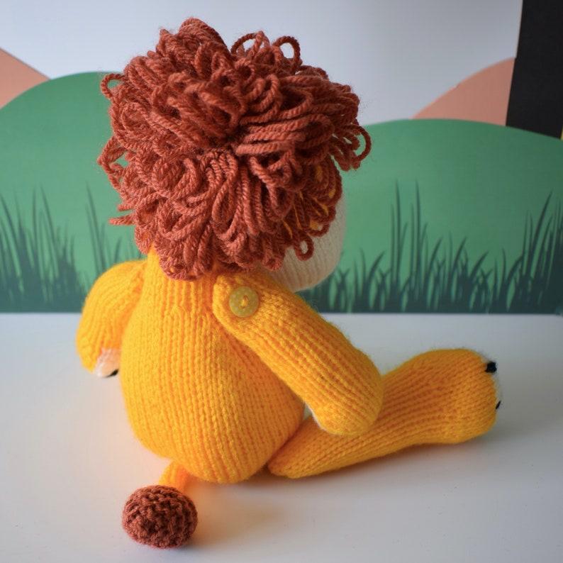 Samson the Lion toy knitting pattern | Etsy
