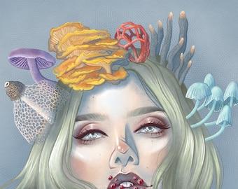 "5"" x 7"" Mushroom Queen Print"