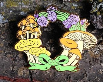 Summer Wreath Hard Enamel Pin