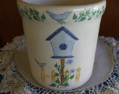 Crock Shop - Santa Anna Crock - Bird House - Blue Birds - Vintage - Collectible - Gifts