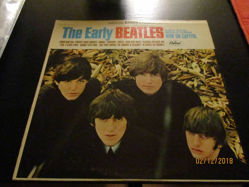 4c5e83498d71a The Beatles NM- vinyl - The Early Beatles - Vintage Cover in VG++ Condition
