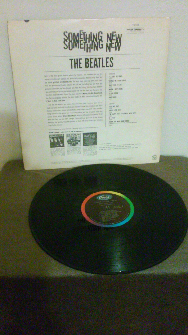 4bc3643e2a333 On Sale - The Beatles VG++ vinyl - Something New - Original Monophonic Wow  - Vintage cover in VG+ Condition