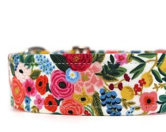 Painted Flowers Dog Collar - Rifle Paper Co. - Custom Dog Collar - Martingale - Pet Accessories - Designer Dog Collar - Cat Collar