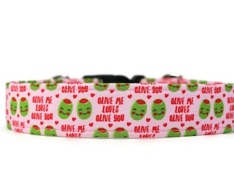 Olive Love Dog Collar - Custom Dog Collar - Pet Accessories
