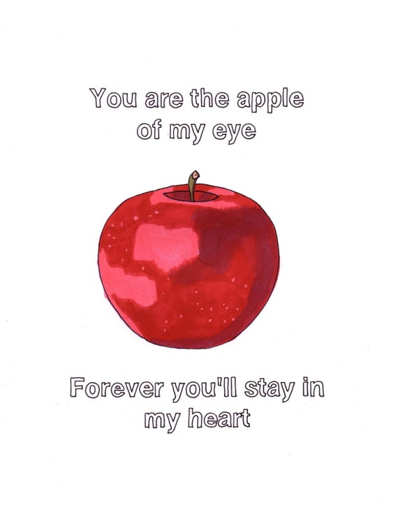 You Are The Sunshine Of My Life Apple 8x10 Framed Original Etsy