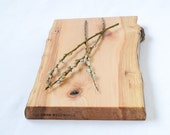Wooden Serving Board, Natural Edge Salvaged Maple 840, Ready to Ship