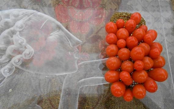 1930's Orange Berry Dress Clip
