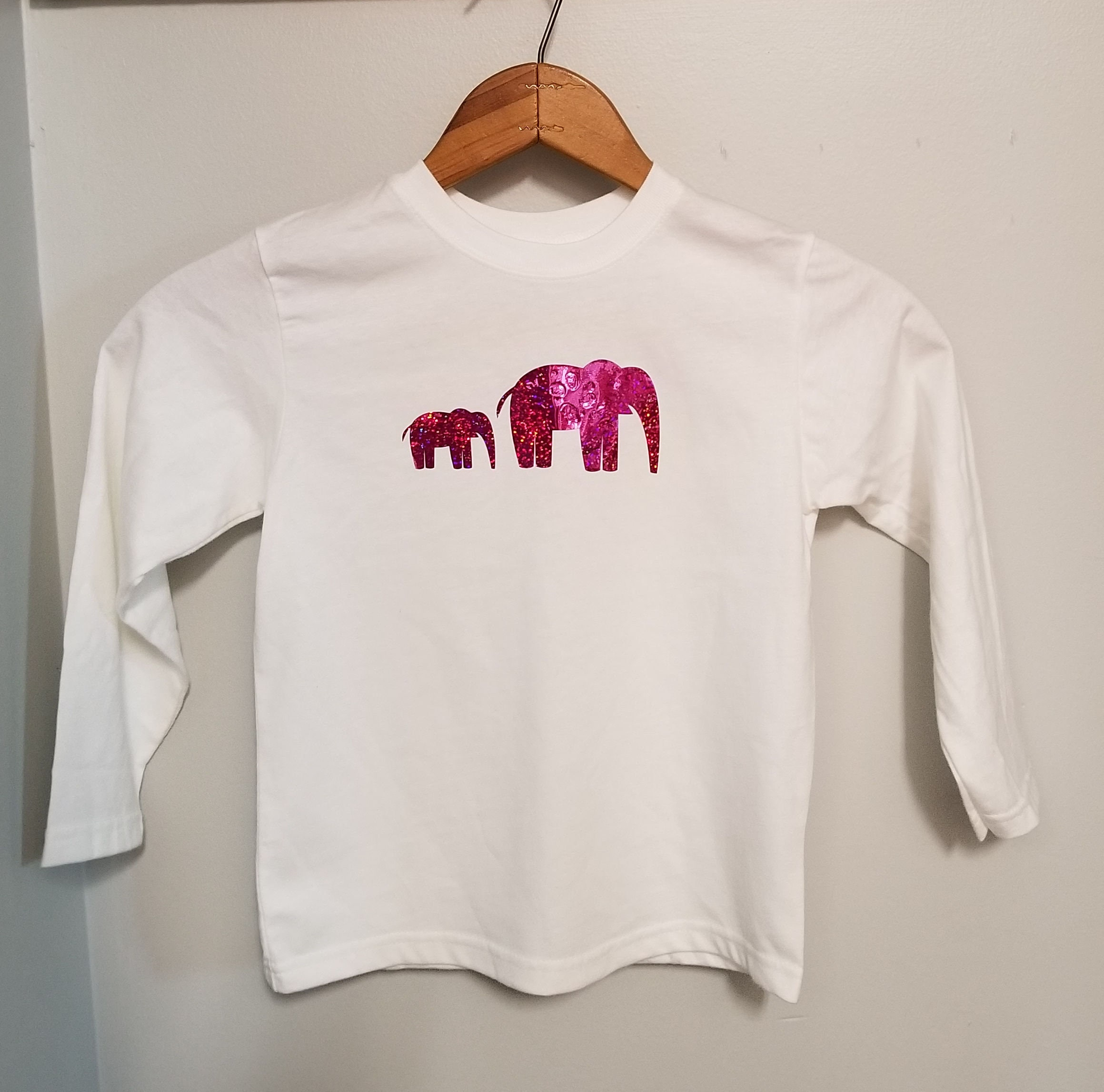 a0522456ef50c8 Elephant Baby T-Shirt  Toddler T-Shirt  Sparkle T-Shirt  Baby Shower Gift