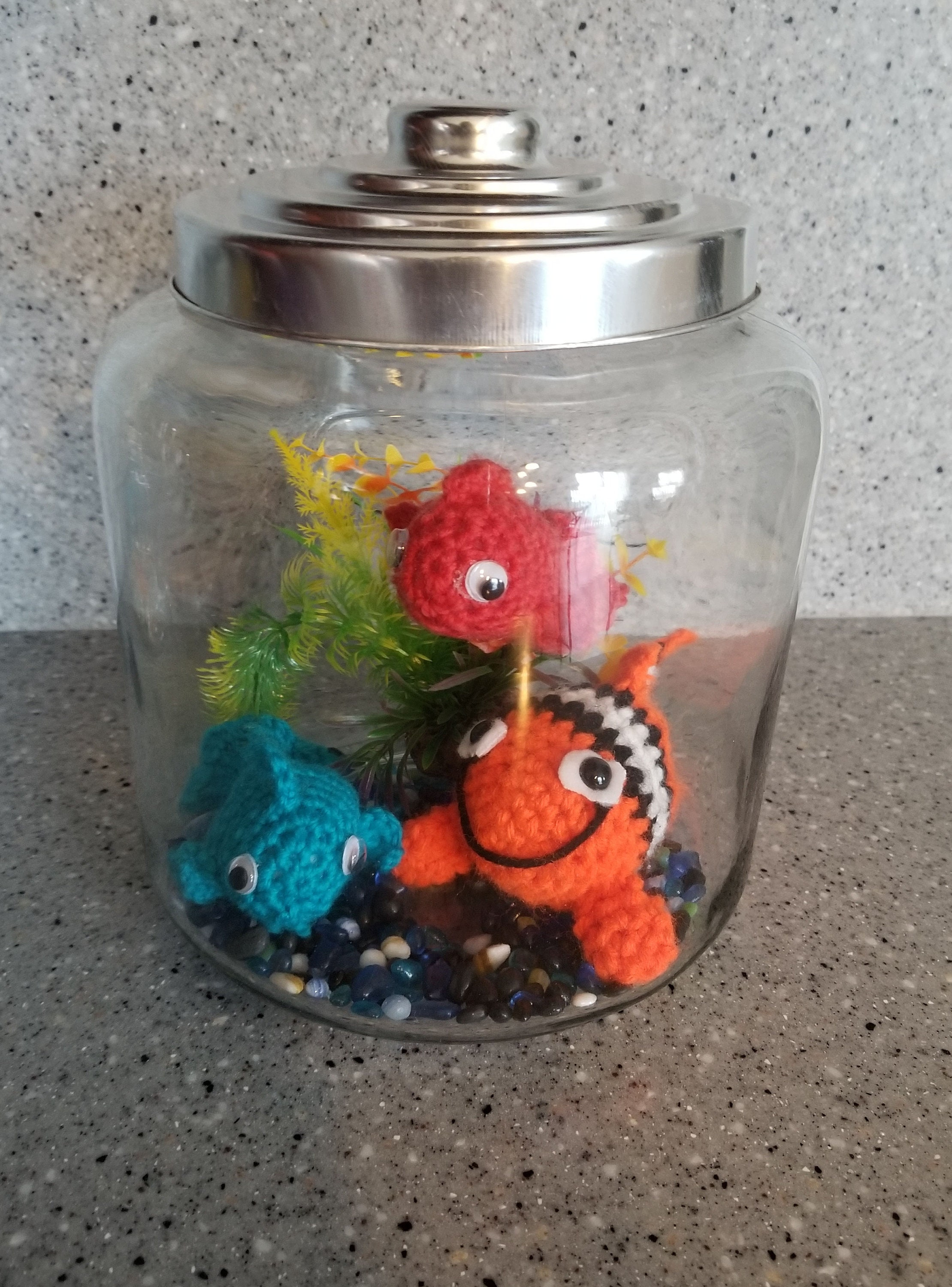 finding nemo christmas gift crochet clown fish finding nemo aquarium decorations - Christmas Aquarium Decorations