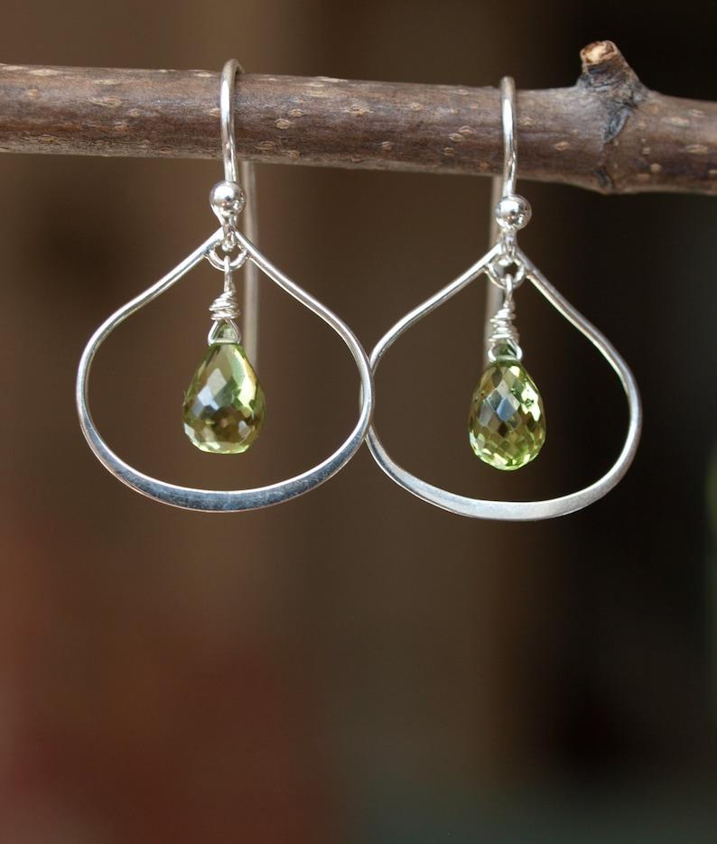 Sterling Silver Peridot Earrings