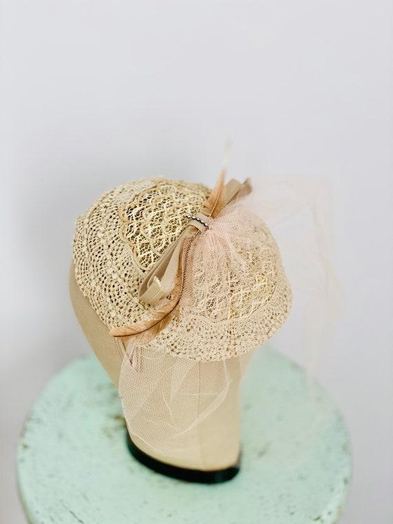 Vintage 1930s Fascinator/ Vintage 1930s Hat/ Ribbo