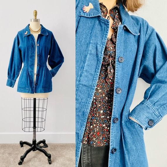 Vintage 1970s Denim Jacket/ Blue Jean Jacket/ Ball