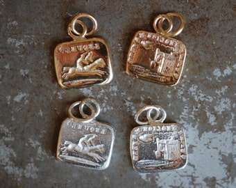"""Cachet Collection Victorian reversible wax seal or ring・""""Caged bird"""" ∙  horse, equestrian, put a ring on it"""