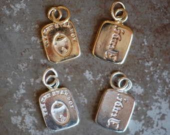 """Cachet Collection Victorian reversible wax seal charm or ring ∙ """"Key to my heart""""・tenderness, padlock, romantic love, promise ring"""
