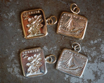 """Cachet Collection Victorian reversible wax seal charm or ring ∙ """"Such is life"""" ∙ sailing, ups and downs, butterfly, long distance love"""