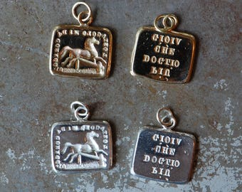 """Cachet Collection Victorian reversible wax seal charm or ring・ """"Bring it on"""" ∙ find a way, obstacles, horse, grief"""
