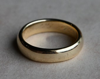 Antique SIZE 5 1900s 18K yellow gold wedding band or stacking ring