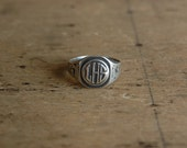 1920s sterling silver American class ring