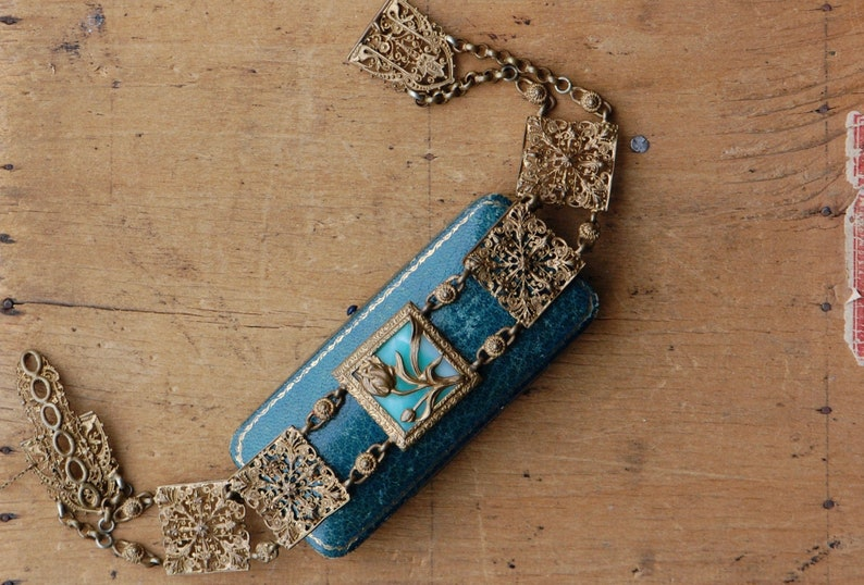 Antique 1900s Edwardian collier de chien French collar image 0