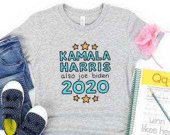 Kamala Harris and Also Joe Biden 2020 Feminist Political Kids / Baby T-Shirt - Youth, Toddler, Infant, Bodysuit