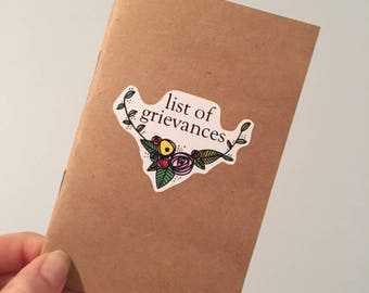 List of Grievances - Snarky Gift - Sarcastic Gift - Festivus - List Pad - Stocking Stuffer - Funny Gift - Funny - Christmas Gifts for Office