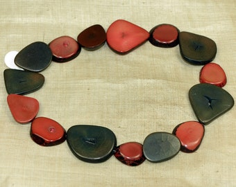 Funky Vintage Tagua Nut Beads from the 70s; NTR830