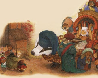 From Redwall,  The Traveling Thistledown Troupe!