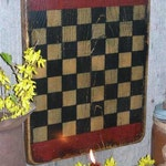 Simply Primitive Checkerboard,Folk Art, Wall Art, Game Board