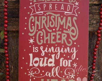 SALE! Christmas Cheer, Wood Wall Sign, Subway Art,Typography,