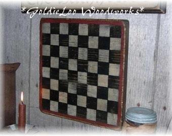 Simple Prim Checkerboard,Folk Art, Wall Art, Game Board