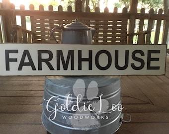 Farmhouse, Rustic, Wood Sign