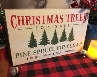 Christmas  Trees For Sale, Wood Wall Sign