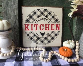 Farmhouse Kitchen, Wood Wall Sign