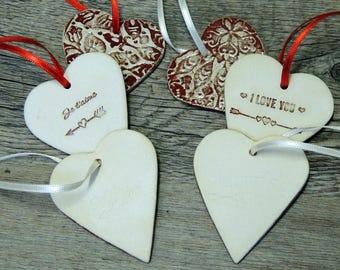 heart decoration ceramic
