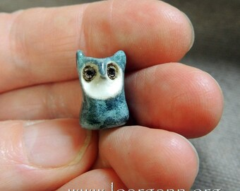 Owl bead (hole3mm)21x11x10mm
